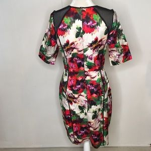 Milly Dresses - Milly Dress Sz M Floral Mesh Panels Milly40848
